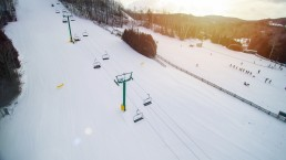 aerial view of chairlift