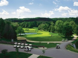golf course in the summer
