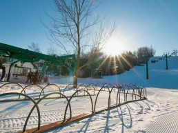 Chairlift and ski hill