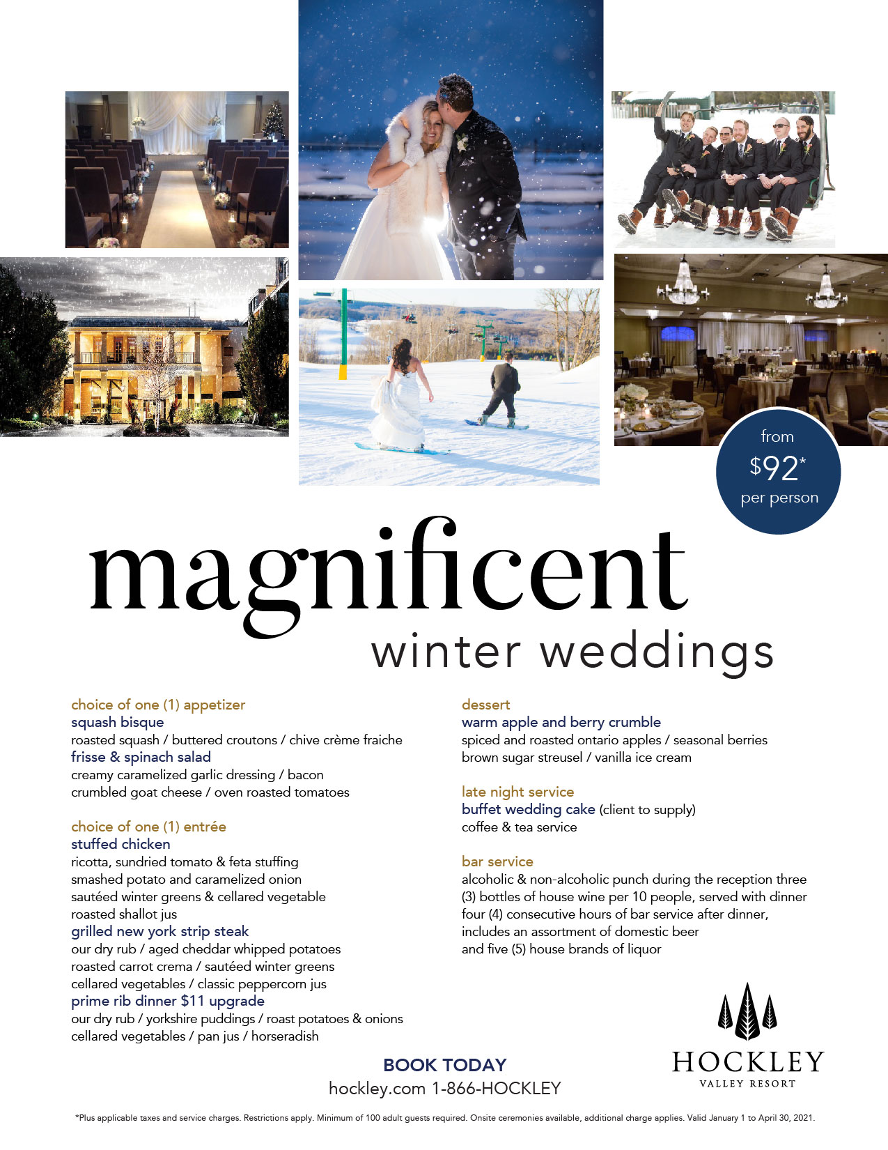 winter wedding flyer
