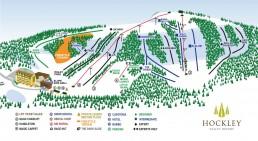 Ski run map at Hockley Valley Resort