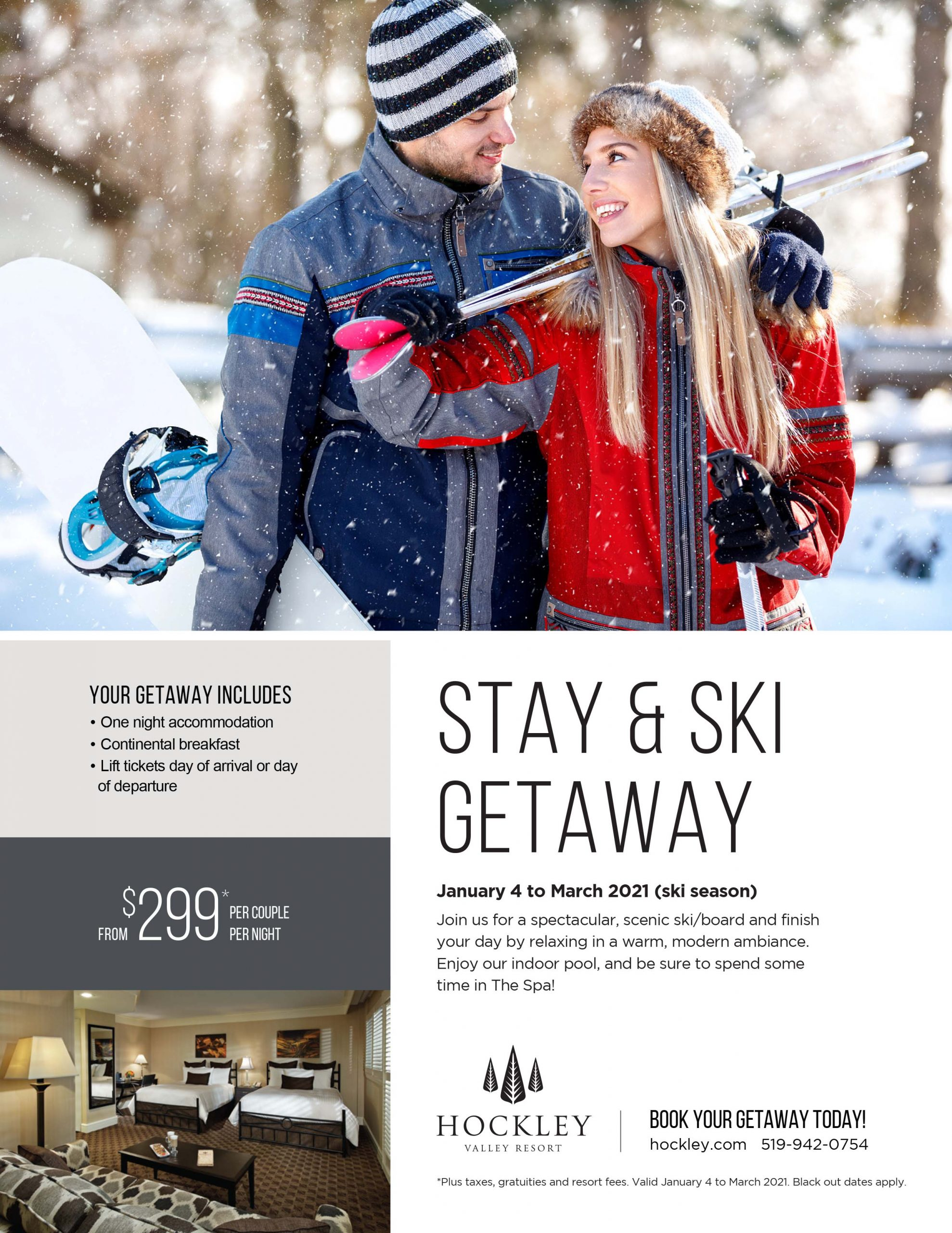 stay and ski getaway package