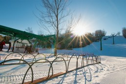 ski lift in the winter
